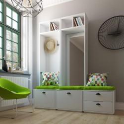 Mueble Recibidor Lacado Modular Pezzi Con Espejo