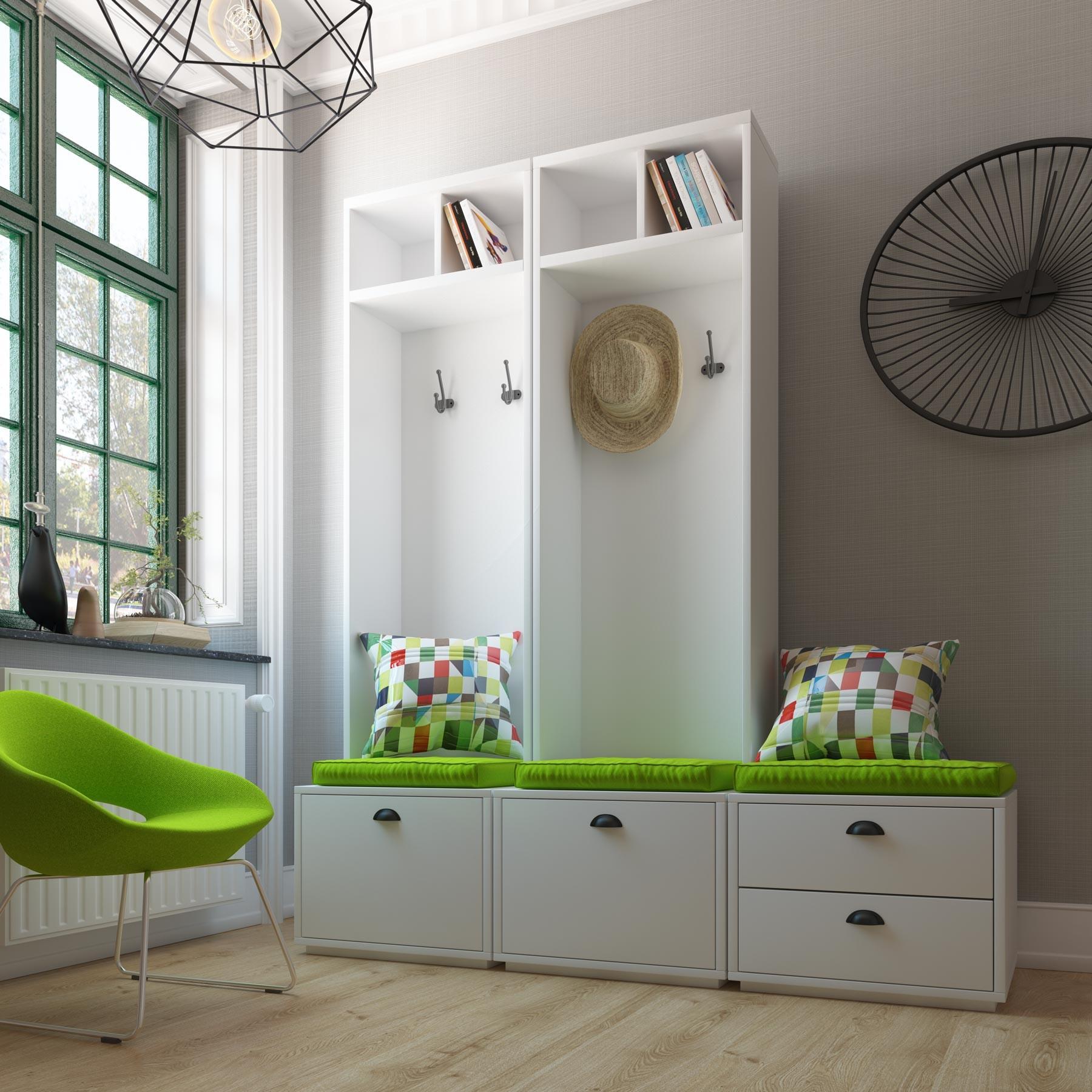 Mueble recibidor lacado modular pezzi for Mueble recibidor diseno