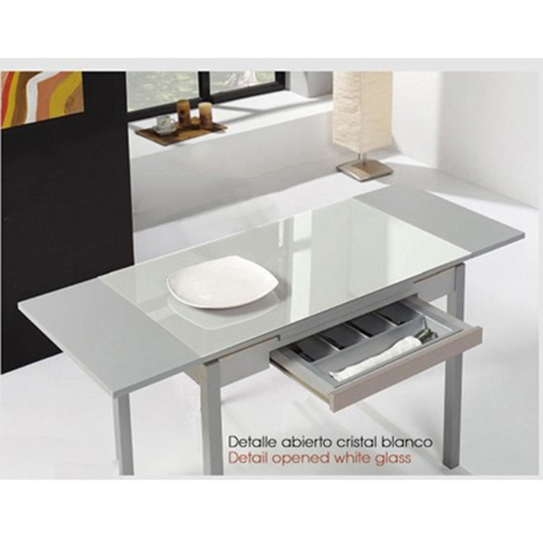 Mesa de cocina con alas extensibles modelo a for Mesas para cocina extensibles