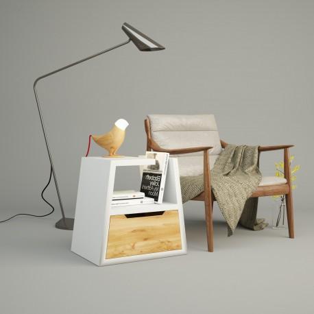 Mesita de noche original KEOPS - Cajón en madera