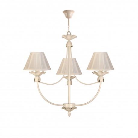 Lámpara de techo colgante araña modelo Blume 3 bombillas blanca