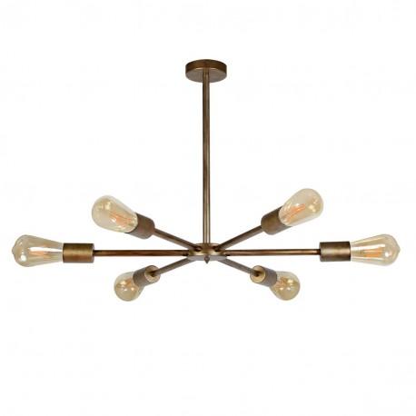 Lámpara de techo vela industrial modelo Castilla Oro Viejo