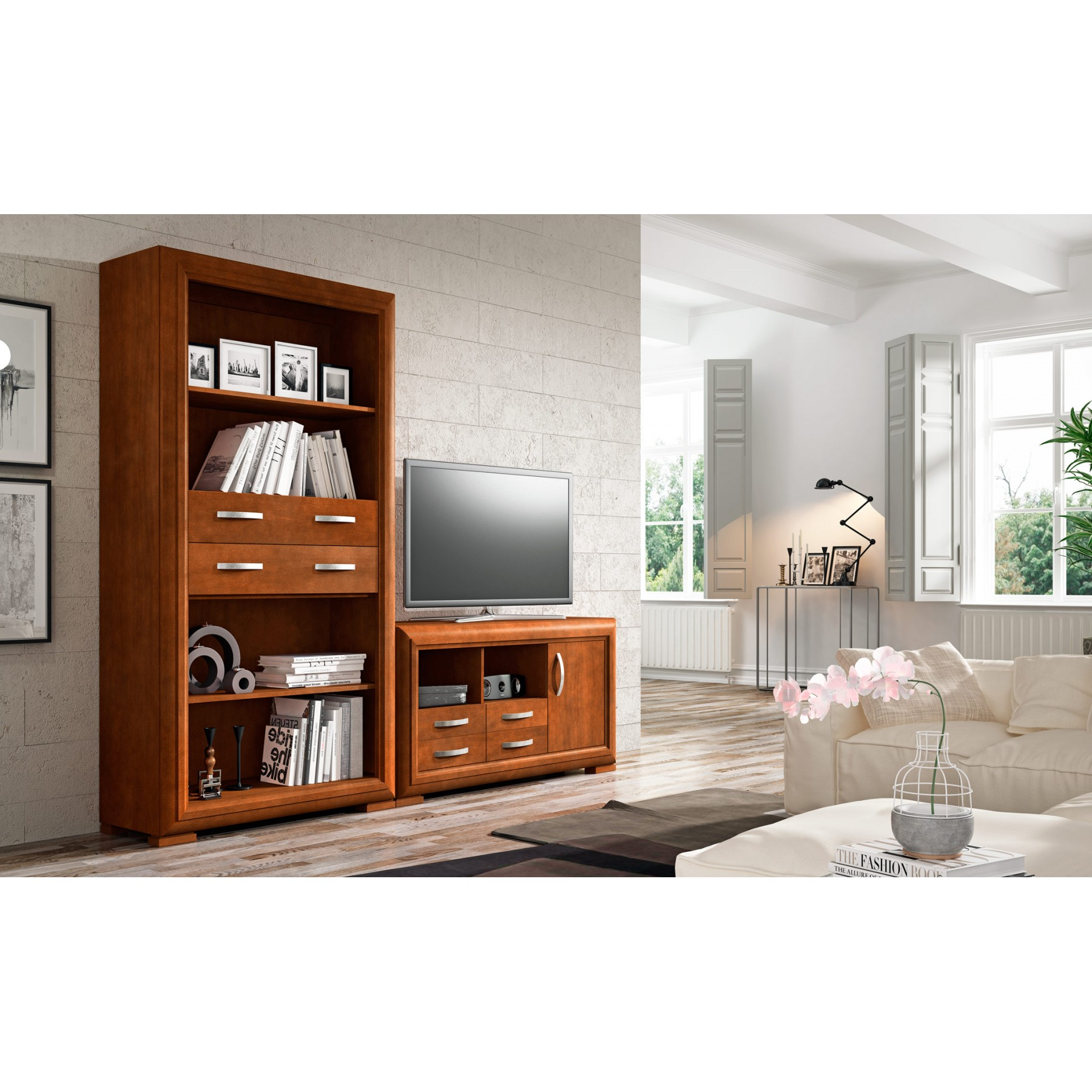 Conjunto muebles de sal n modelo arbeia for Modelos de muebles de salon