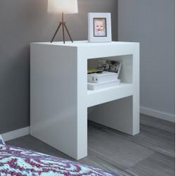 OFERTA 2 Mesas de noche minimalista lacada blanca A