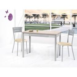 Conjunto Mesa fija y sillas/taburetes con tapa laminada modelo Legno