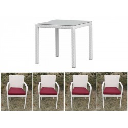 Conjunto mesas y sillas jardín 4/6 Costa Rica