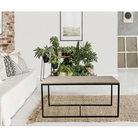 mesa de centro industrial cuadrada vintage modelo fekhteri