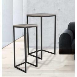 Juego mesas altas auxiliares diseño industrial modelo Tavolino