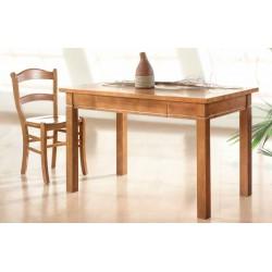 Conjunto de mesa y sillas de cocina de madera de fresno modelo Mango