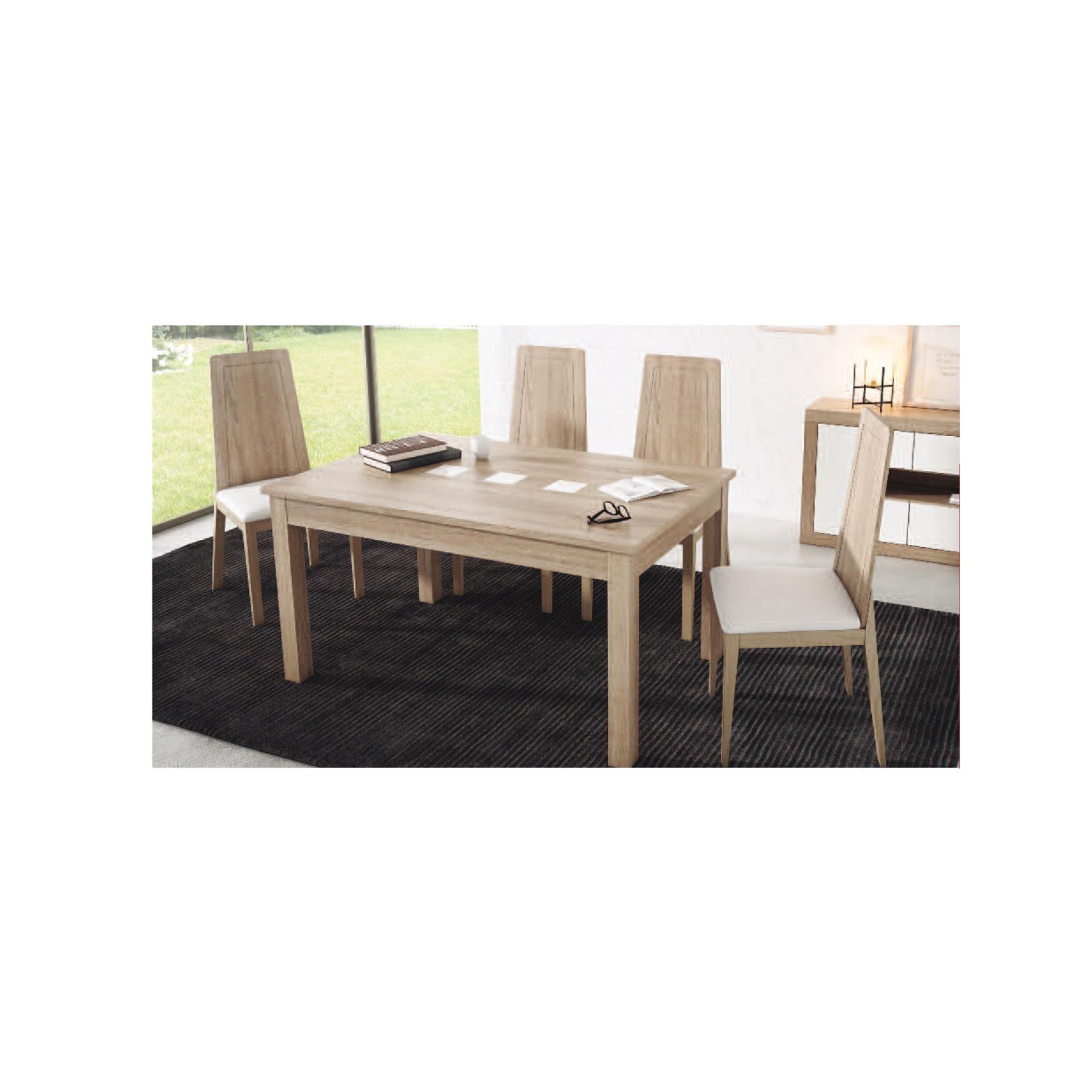 Conjunto mesa extensible y sillas de comedor modelo sada for Conjunto mesa extensible y sillas comedor