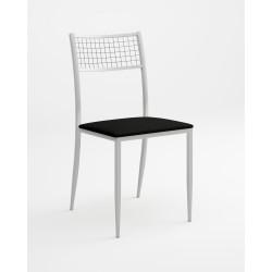 Silla de cocina asiento tapizado modelo Lírica