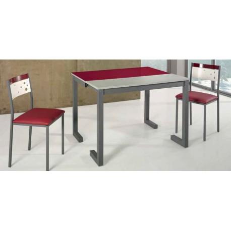 Conjunto de mesa y sillas modelo GROSELLA