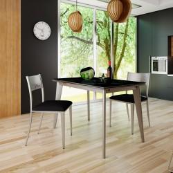 Mesa de cocina extensible alas frontales modelo Gianna
