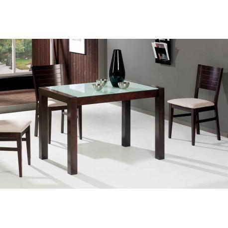 Conjunto de mesa y 4 sillas de cocina en madera modelo for Mesas y sillas de madera para cocina