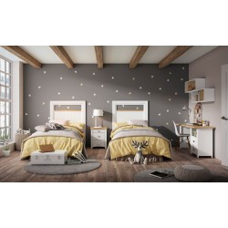 Dormitorio juvenil estilo ibicenco modelo Corfu