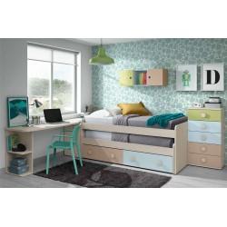 Dormitorio Juvenil completo modelo Acra