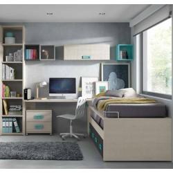 Completo dormitorio juvenil modelo Atenas