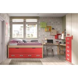 Dormitorio Juvenil con armario modelo Malabo