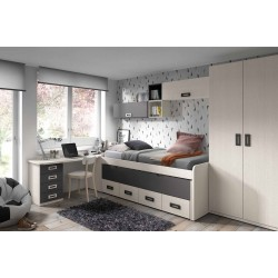 Conjunto dormitorio juvenil modelo Nairobi