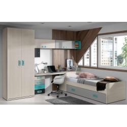 Dormitorio juvenil completo modelo Vilna