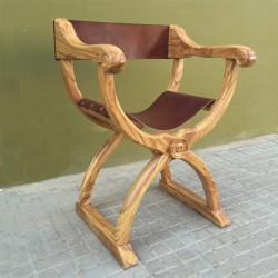 Sillón Jamuga en madera de olivo Eburo