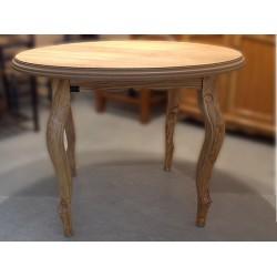 Mesa redonda de comedor en madera de olivo Habis