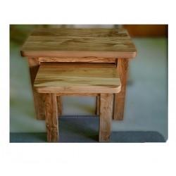 Juego de mesas nido en madera de olivo modelo Sosimilo