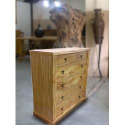 Cómoda para dormitorio en madera de olivo Claudia
