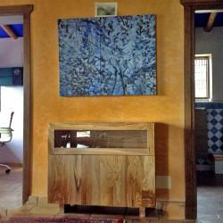 Aparador rústico en madera de olivo Gorafe