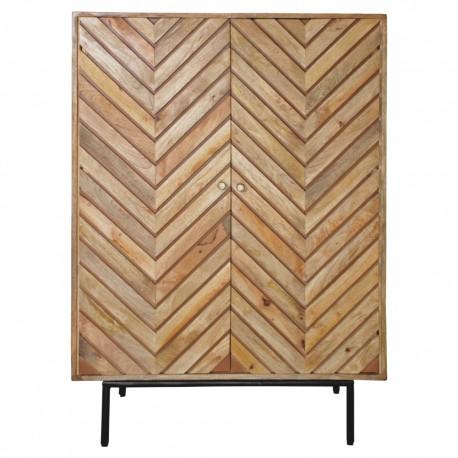 Armario aparador en madera tropical Sarabia