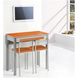 Conjunto Mesa Cocina y sillas/taburete ala extensible frontal modelo ADD