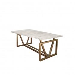 Mesa de comedor de gran capacidad en madera de pino