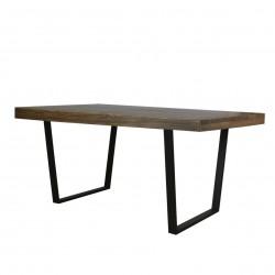 Mesa para comedor en madera de pino regruesada