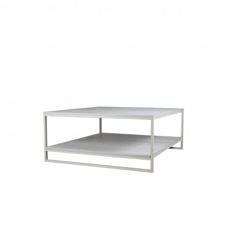 Mesa de centro en metal y melamina diseño industrial