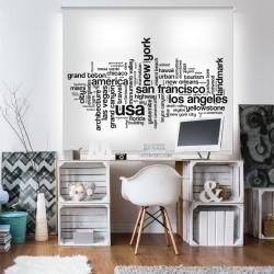 Estor personalizado con paisaje de ciudades