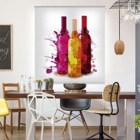 Estor fotográfico para cocina diseño Vino