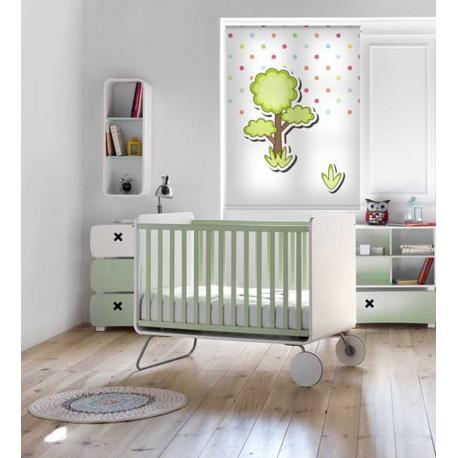 Estor para habitación infantil con diseño de animales