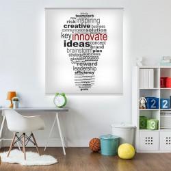 Estores enrollables para oficina creativa
