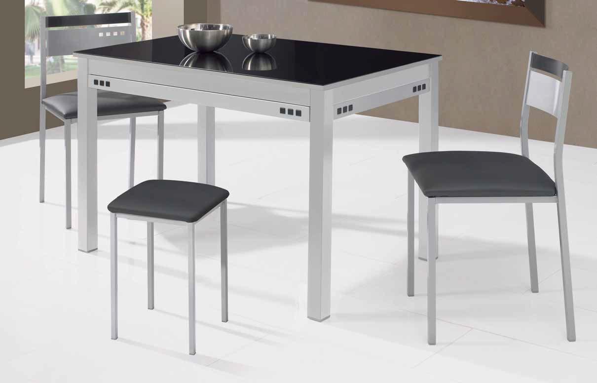 Mesa de cocina fija negra modelo Níspero