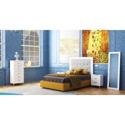 Conjunto para habitación cabecero tapizado modelo César