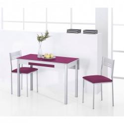 Pack de Mesa Cocina ala extensible trasera y sillas de cocina modelo ADED