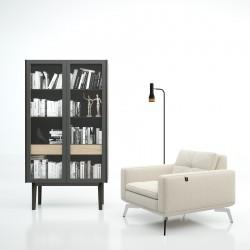 Vitrina librería de diseño serie Dahlia