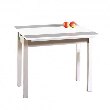 Mesa de cocina extensible alas frontales modelo Piña