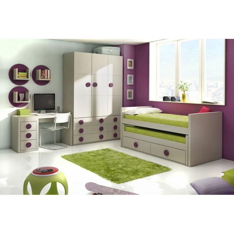 Dormitorio juvenil modelo play for Modelos dormitorios