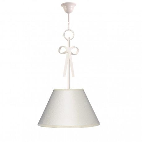 Lámpara infantil de techo modelo Baby T1 - Adorno lazo y pantalla en beig