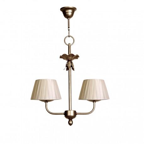 Lámpara de techo modelo Min 2A- Acabado en plata vieja