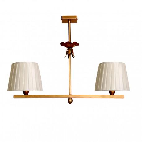 Lámpara de techo modelo Min 2C acabada en oro viejo