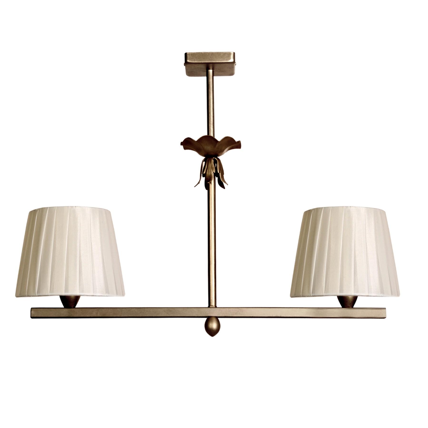 Lámpara de techo clásica modelo Min 2C de dos lámparas