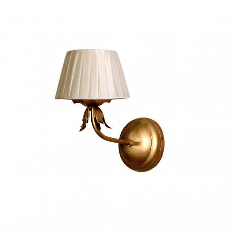 Lámpara de pared modelo Min acabado en oro viejo