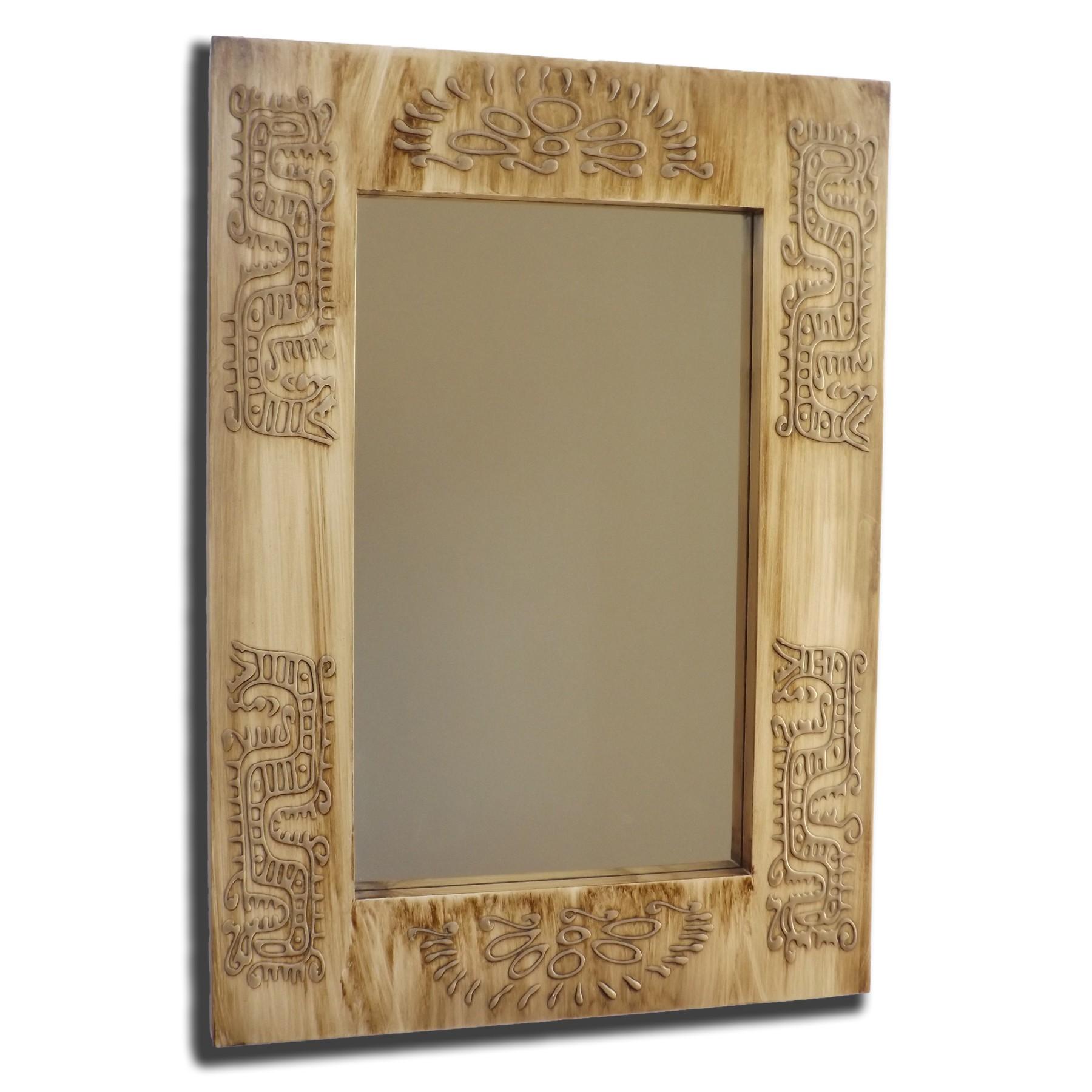 Espejo artesanal de pared hecho a mano modelo yuma for Modelos de espejos decorativos